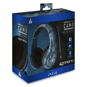 Auscultadores Gaming 4Gamers PRO4-70 Camo Blue PS4