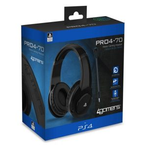 Auscultadores Gaming 4Gamers PRO4-70 Preto PS4