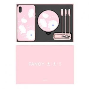 Conjunto Nillkin Fancy iPhone XS Max Rosa