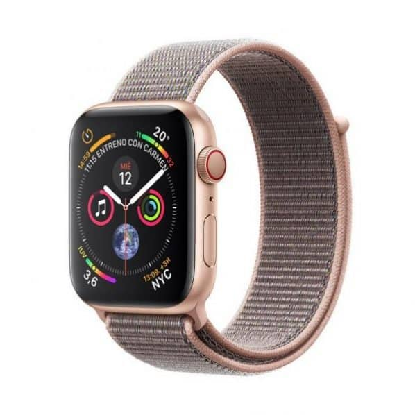 Apple Watch Series 4 GPS + Cellular 44mm Gold Aluminum Case with Pink Sand Sport
